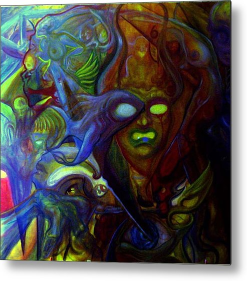 Chaos Metal Print featuring the painting The Clutter Of Chaos by Will Le Beouf