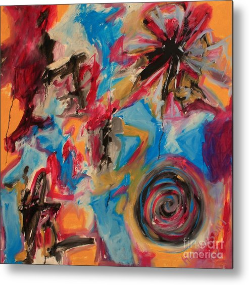 Abstract Metal Print featuring the painting The Creation by Michael Henderson