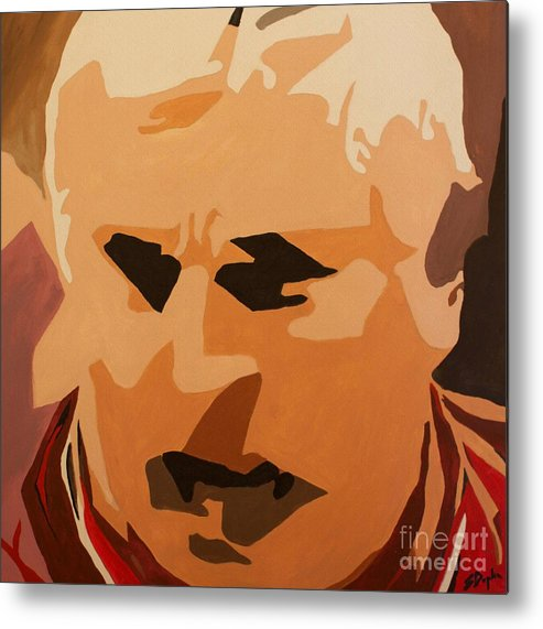 Coach Metal Print featuring the painting The General- Bobby Knight by Steven Dopka