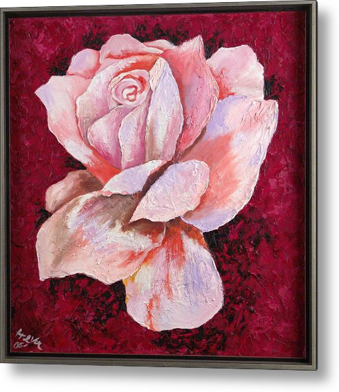 Flowers Metal Print featuring the painting Third Passion by Helene Lagoudakis