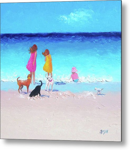 Beach Metal Print featuring the painting Those Summer Days by Jan Matson