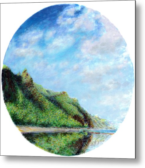 Coastal Decor Metal Print featuring the painting Tondo by Kenneth Grzesik