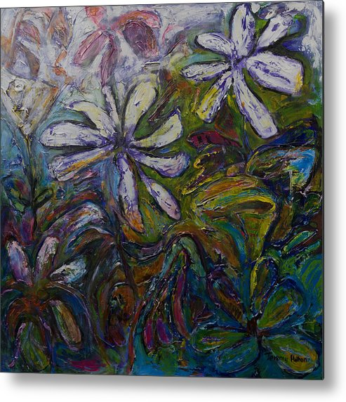 Flowers Metal Print featuring the painting Undergrowth by Jeremy Holton