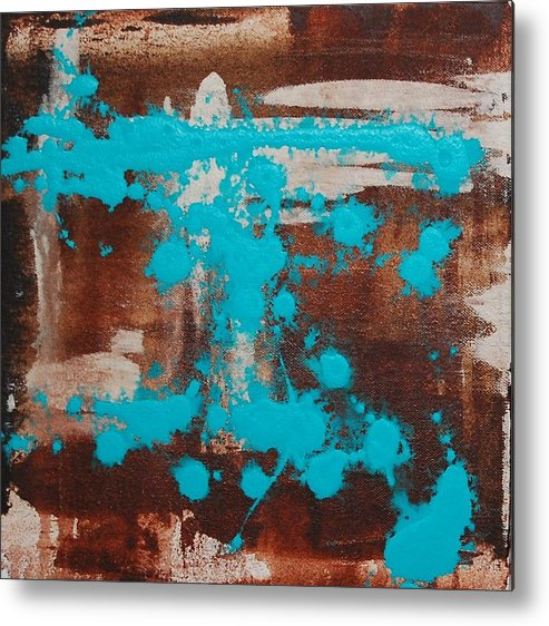 Diptech Metal Print featuring the painting Urbanesque I by Lauren Luna