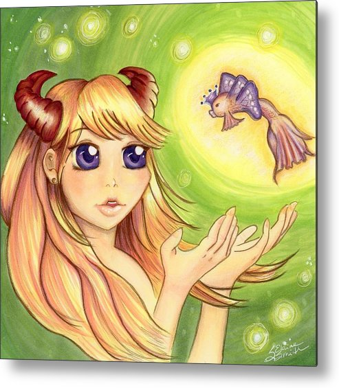 Anime Metal Print featuring the mixed media Valencia by Stephanie Elaine Smith