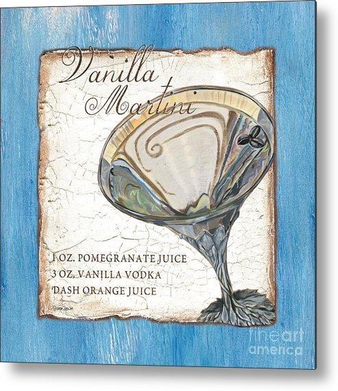 Martini Metal Print featuring the painting Vanilla Martini by Debbie DeWitt