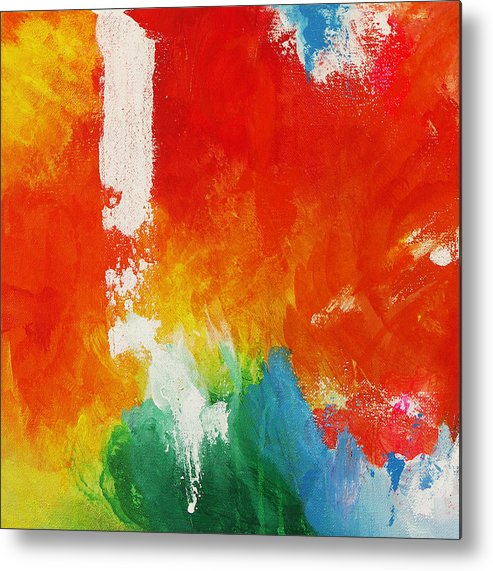 Water And Fire Metal Print featuring the painting Water And Fire by Kathleen Wong