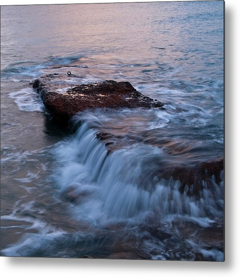 Landscapes Photography Metal Print featuring the photograph Waves 01 by Manolis Tsantakis