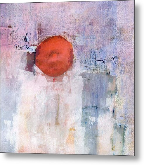 Abstract Metal Print featuring the painting White Variations by Agnes Trachet