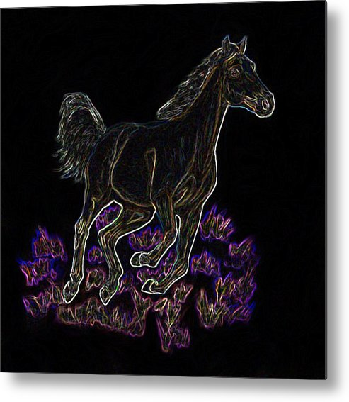 Metal Print featuring the digital art Wild Palomino by Crystal Suppes
