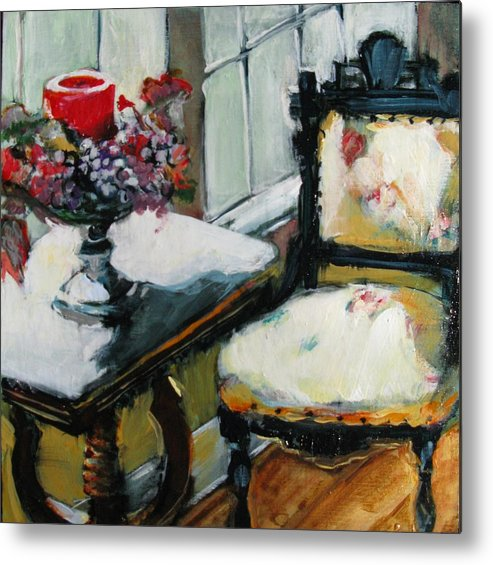 Interior Metal Print featuring the painting Window Seat by Michelle Winnie