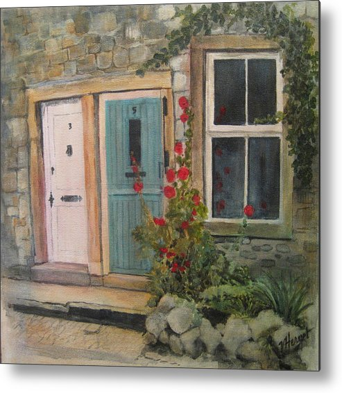 Yorkshire Metal Print featuring the painting Yorkshire Cottages by Victoria Heryet