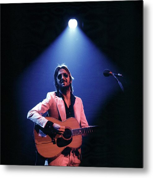 Music Metal Print featuring the photograph Photo Of Eric Clapton by Steve Morley