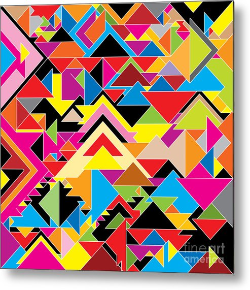 Clipart Metal Print featuring the digital art Color Abstract by Axmbacking