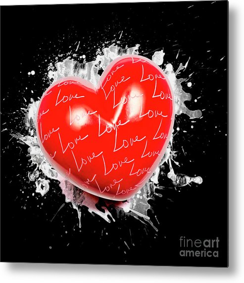 Love Metal Print featuring the photograph Heart Art by Jorgo Photography - Wall Art Gallery
