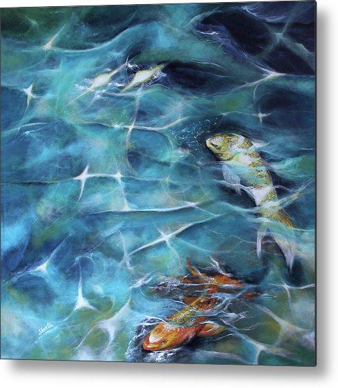 Koi Fish Metal Print featuring the painting Koi Fish3 by Shveta Saxena