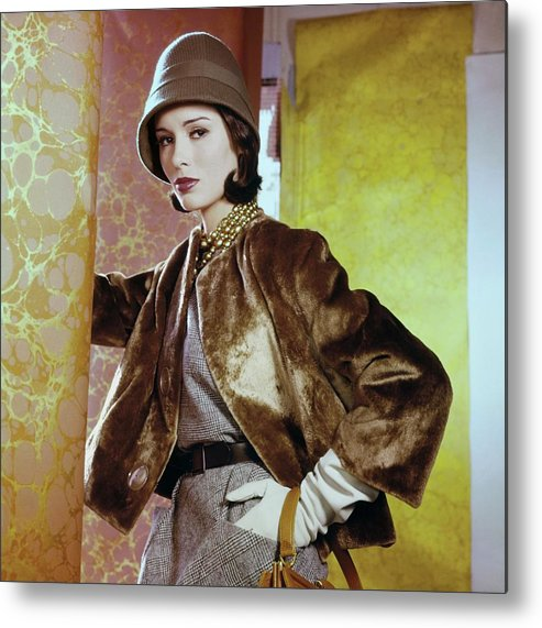 Accessories Metal Print featuring the photograph Sondra Peterson In Ritter Bros by Horst P. Horst