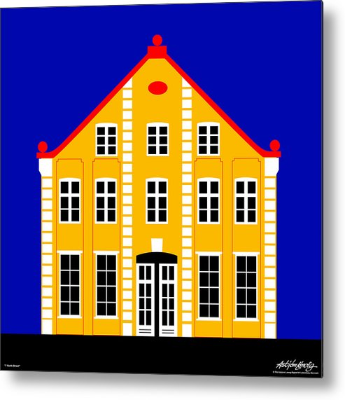 Architecture Metal Print featuring the digital art 7 North Street by Asbjorn Lonvig
