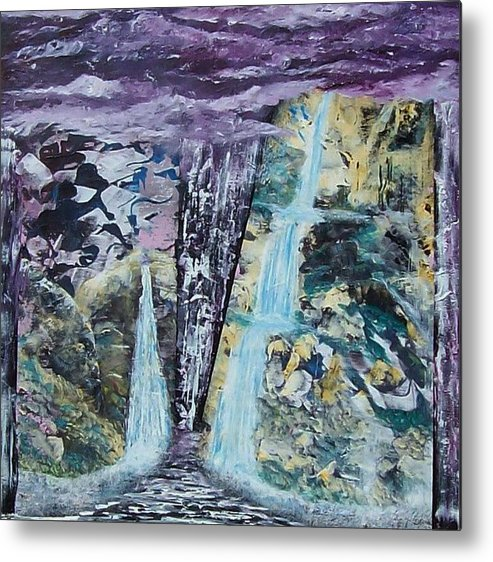Surrealism Metal Print featuring the painting Plein Air Dreams by Tony Rodriguez
