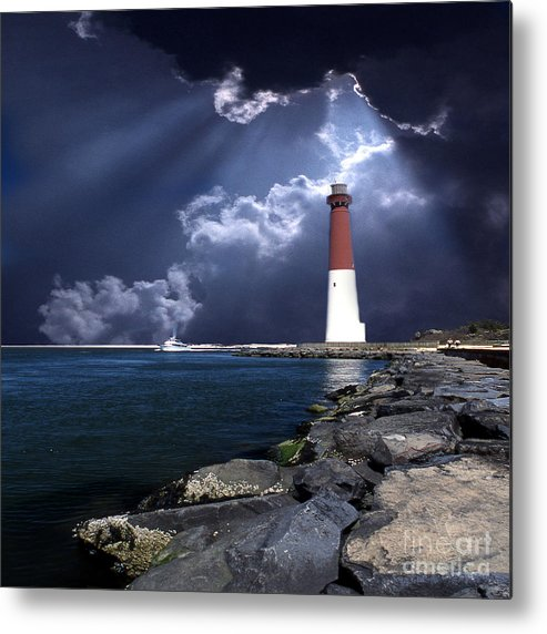 Lighthouses Metal Print featuring the photograph Barnegat Inlet Lighthouse Nj by Skip Willits