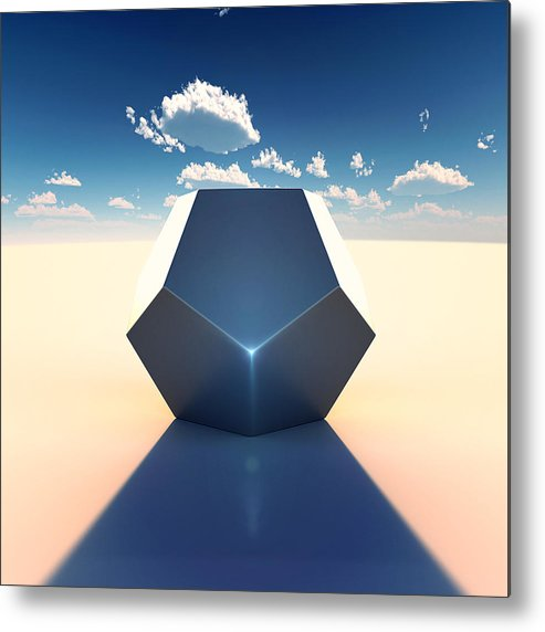Dodecahedron Metal Print featuring the digital art Dodecahedron by Marc Orphanos