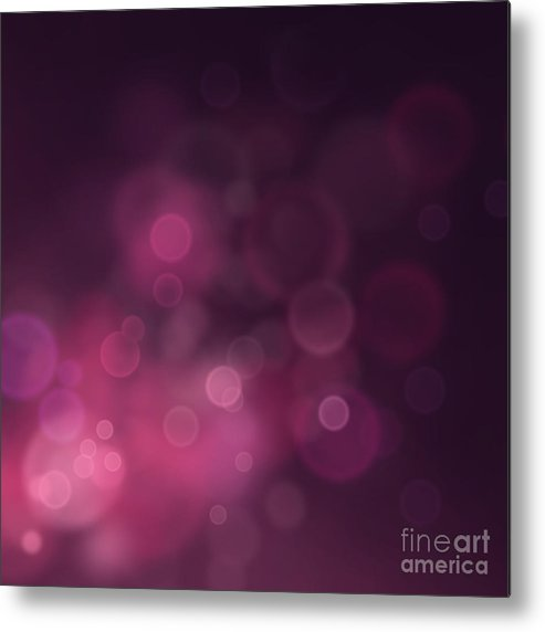 New Metal Print featuring the digital art Festive Bokeh Background by Mythja Photography
