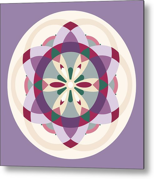 Mandala Metal Print featuring the painting Lavender by Meredith Bernhardt