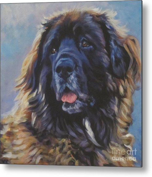 Leonberger Metal Print featuring the painting Leonberger by Lee Ann Shepard