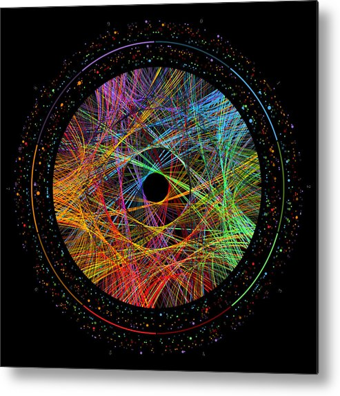 Phi Metal Print featuring the digital art Phi Transition Paths by Martin Krzywinski