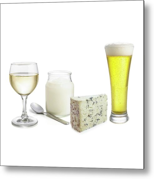 Alcohol Metal Print featuring the photograph Products Of Fermentation by Science Photo Library