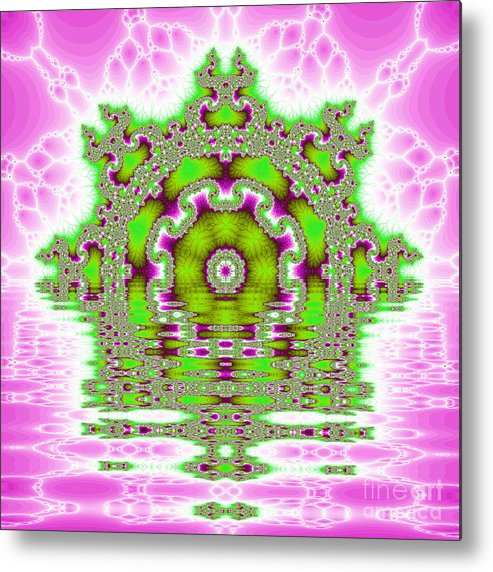 Fracta Metal Print featuring the digital art The Kaleidoscope Reflections by Odon Czintos