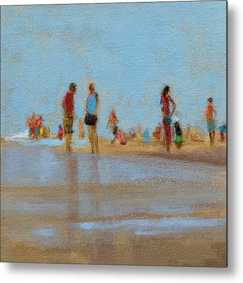 Beach Metal Print featuring the painting Rcnpaintings.com by Chris N Rohrbach