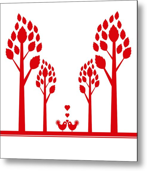 Love Metal Print featuring the photograph Valentine Tree by IB Photography