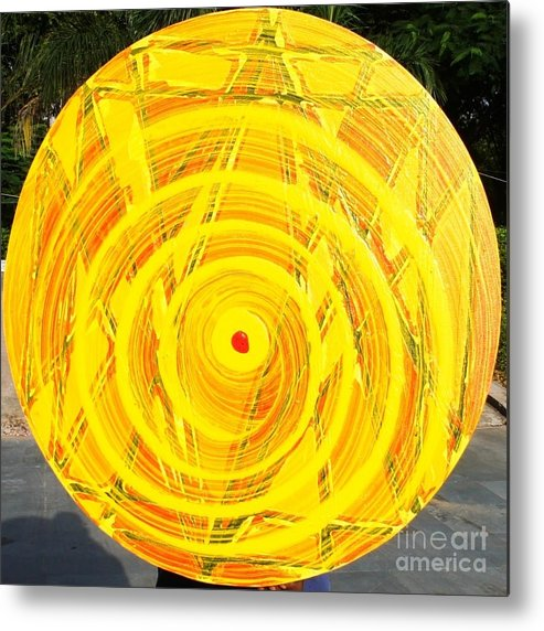 Circle Metal Print featuring the painting Eternal Circle by Baljit Chadha