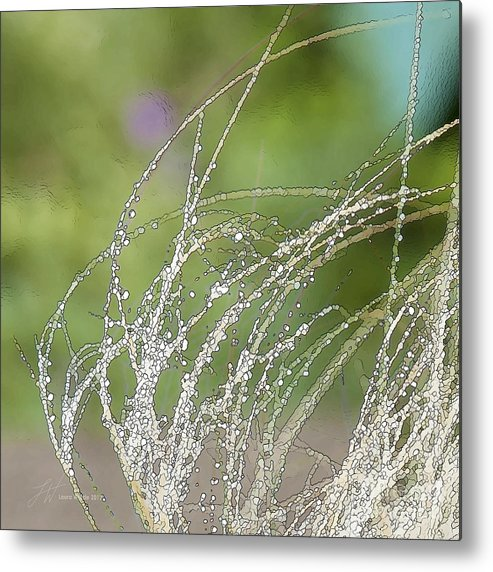 Grass Metal Print featuring the painting Summer Grass by Artist and Photographer Laura Wrede