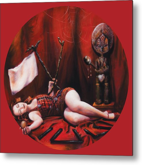 Shelley Irish Metal Print featuring the painting The Protected by Shelley Irish