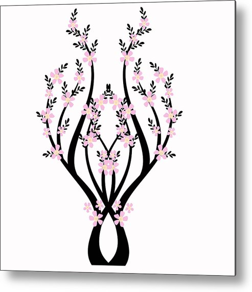 Abstract Metal Print featuring the photograph Art Tree by IB Photography