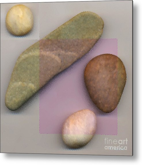 4 Stones Metal Print featuring the digital art 4 Stones by David Klaboe