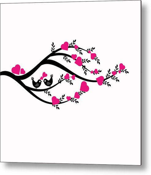 Abstract Metal Print featuring the photograph Love Tree by IB Photography
