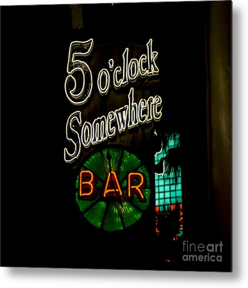 5 O'clock Somewhere Bar Metal Print featuring the photograph 5 O'clock Somewhere Bar by Nina Prommer