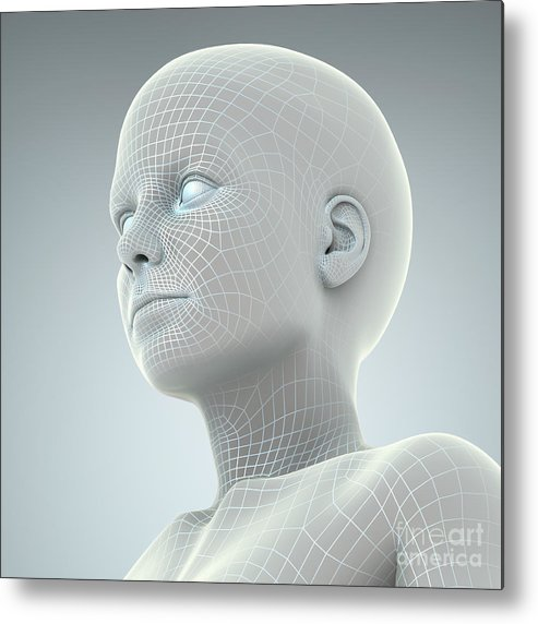 Artificial Intelligence Metal Print featuring the photograph Digital Being by Science Picture Co