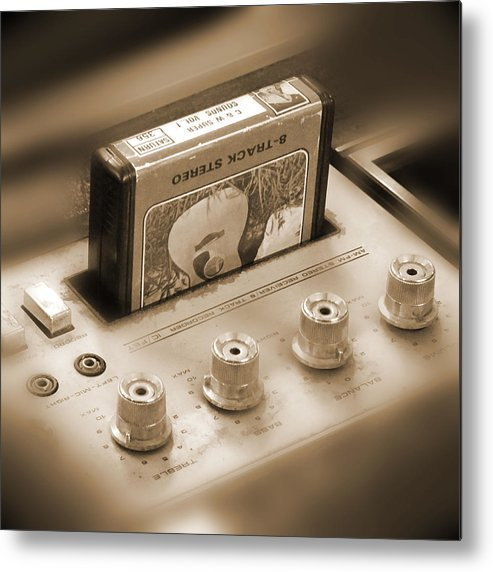 8-track Tape Player Metal Print featuring the photograph 8-track Tape Player by Mike McGlothlen