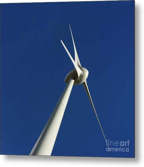 Renewable Energy Metal Print featuring the photograph Wind Turbine by Bernard Jaubert