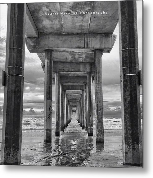 Metal Print featuring the photograph A Stormy Day In San Diego At The by Larry Marshall