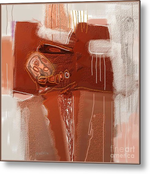 Fine Art Metal Print featuring the painting Abstract 946 by Nedunseralathan R