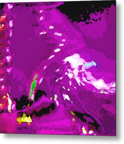 Purple Metal Print featuring the photograph Abstract In Purple by Art Block Collections