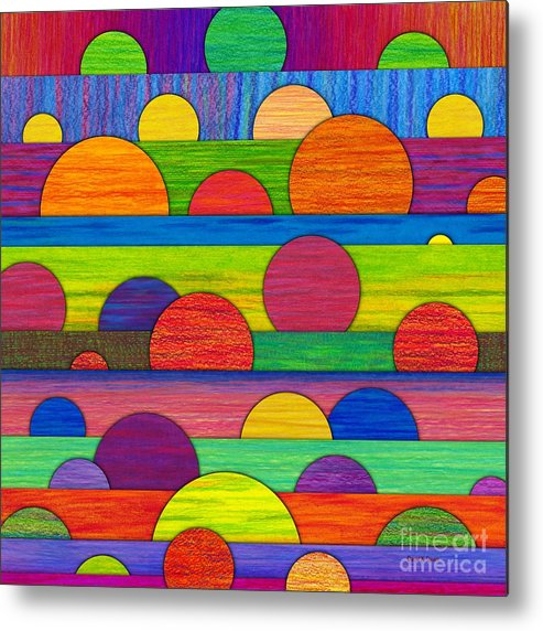Colored Pencil Metal Print featuring the painting All Tucked In by David K Small