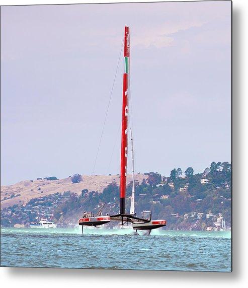 Catamaran Metal Print featuring the photograph America's Cup 2013 Luna Rossa 02 by Daniel Furon