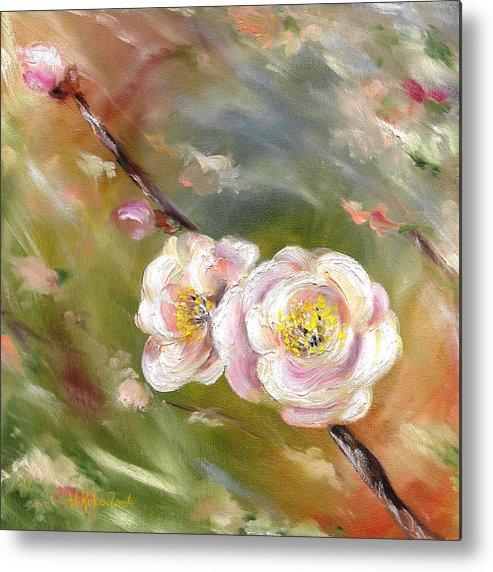 Flower Metal Print featuring the painting Anniversary by Hiroko Sakai
