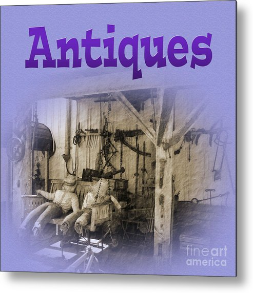 Antiques Metal Print featuring the photograph Antiques by Tina M Wenger